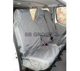 Fiat Ducato van seat covers waterproof grey